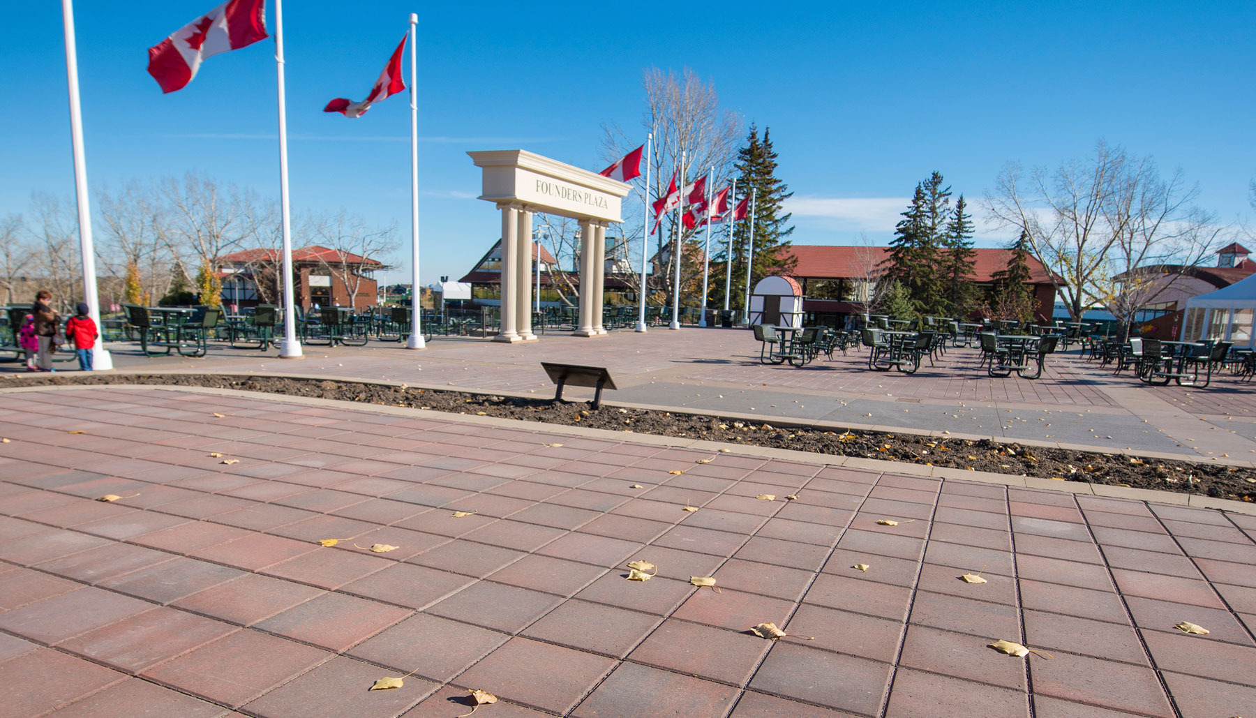 Spruce Meadows' Founders Plaza